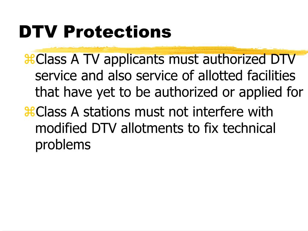 DTV Protections