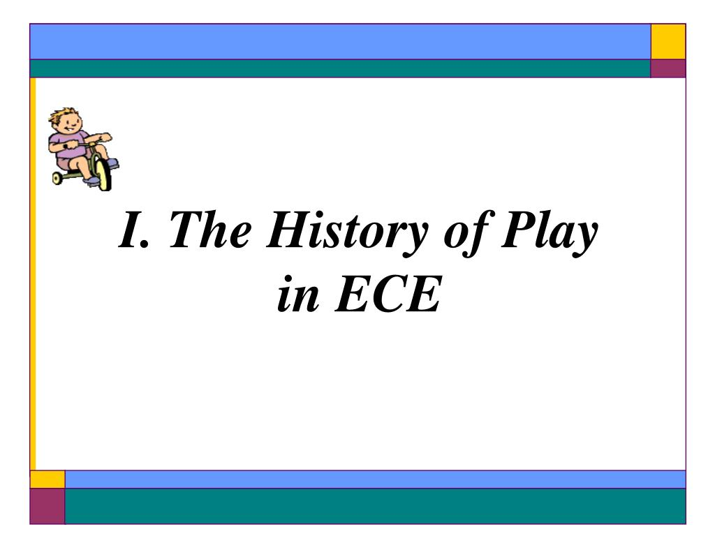 I. The History of Play