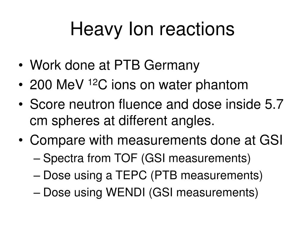 Heavy Ion reactions