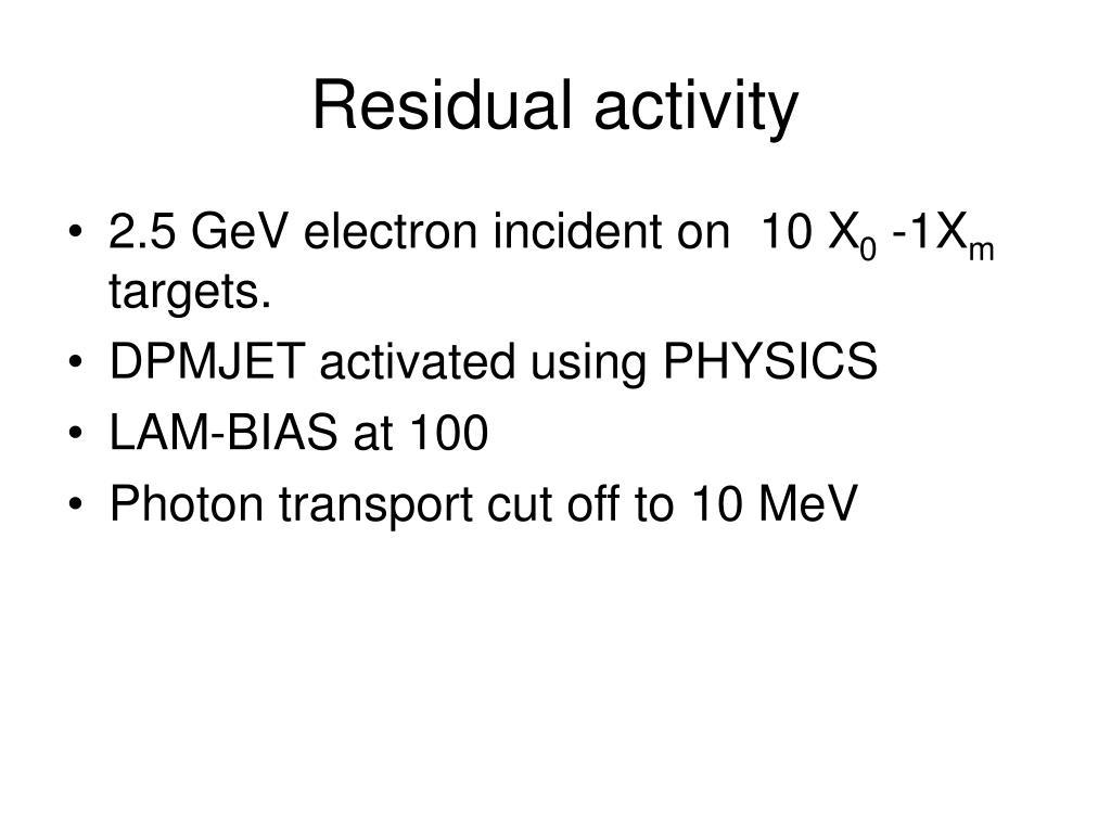 Residual activity