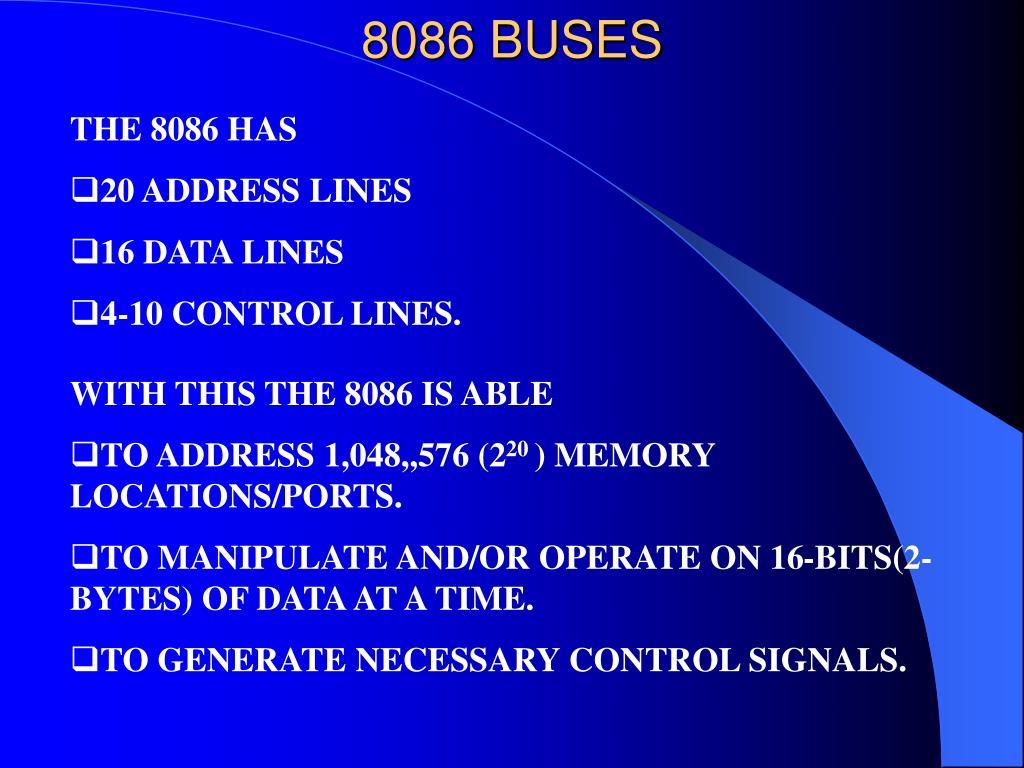 8086 BUSES