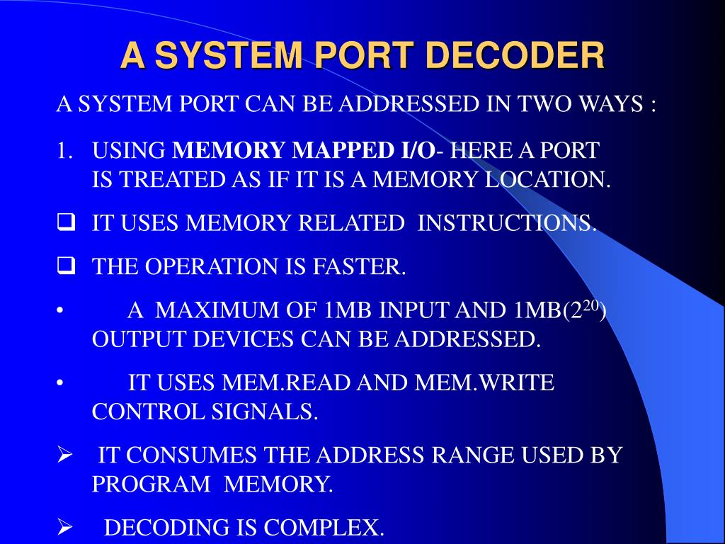 A SYSTEM PORT DECODER