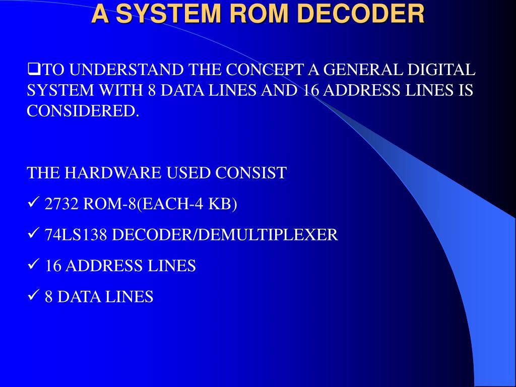 A SYSTEM ROM DECODER