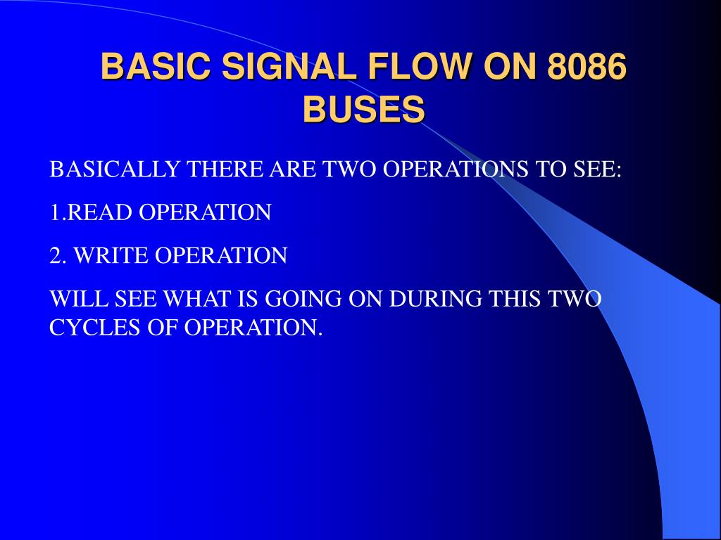 BASIC SIGNAL FLOW ON 8086 BUSES