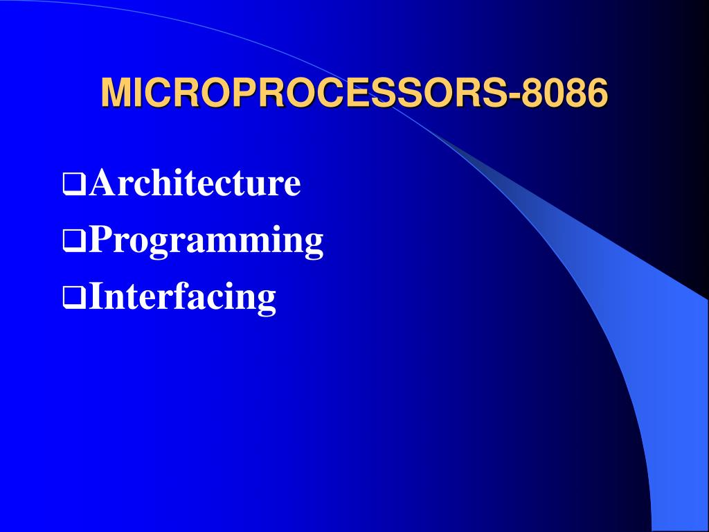 MICROPROCESSORS-8086