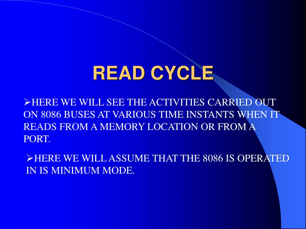 READ CYCLE
