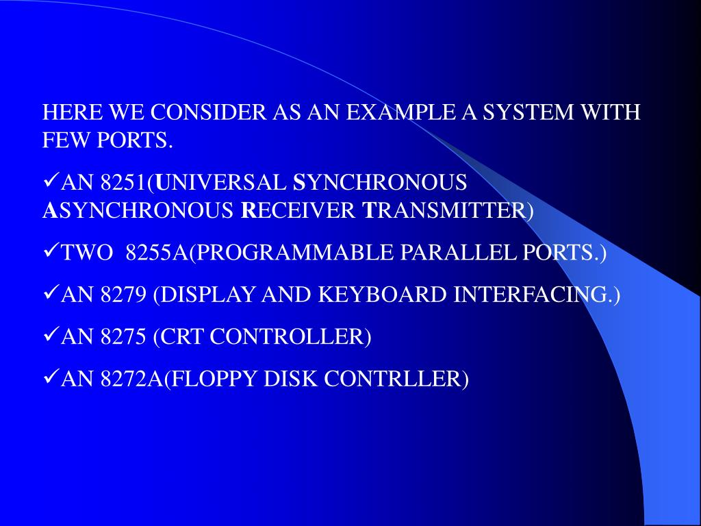 HERE WE CONSIDER AS AN EXAMPLE A SYSTEM WITH FEW PORTS.