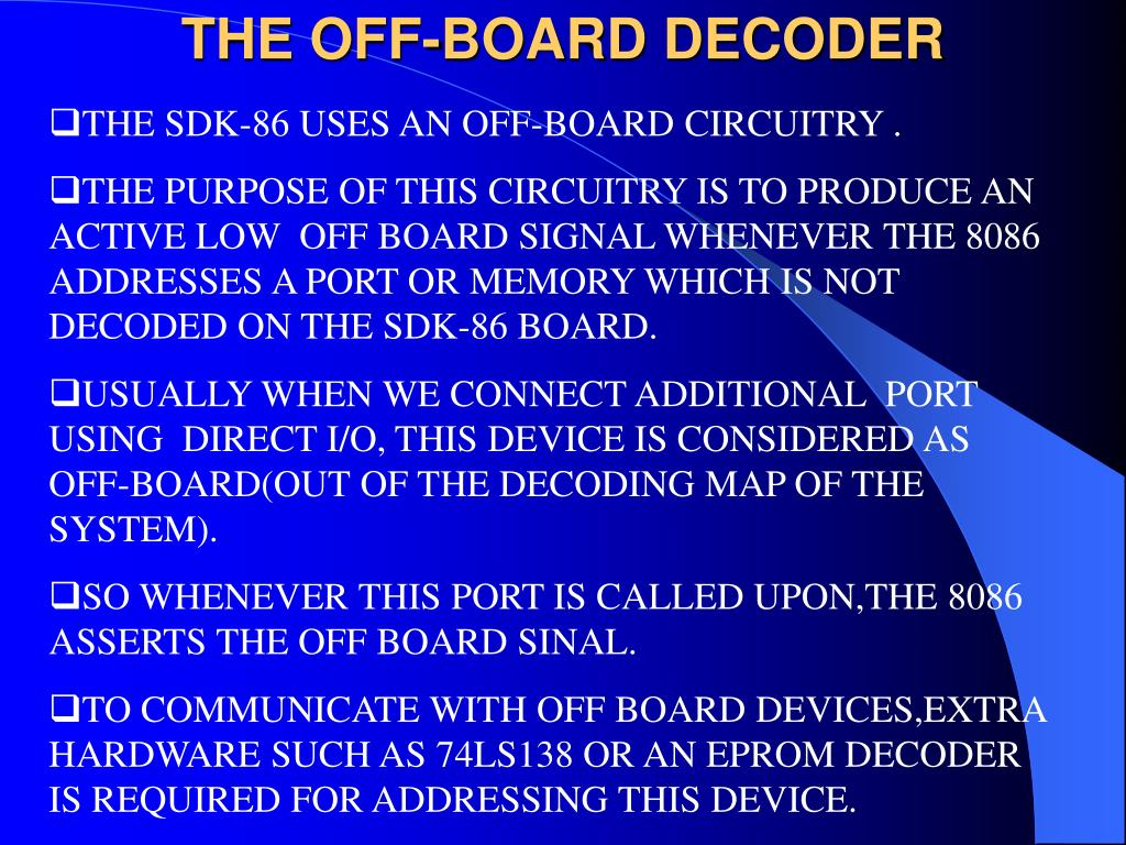 THE OFF-BOARD DECODER