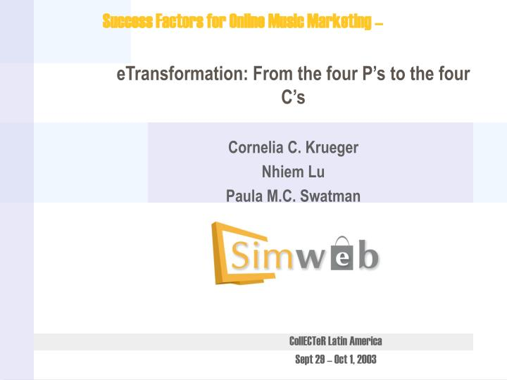 Etransformation from the four p s to the four c s cornelia c krueger nhiem lu paula m c swatman l.jpg