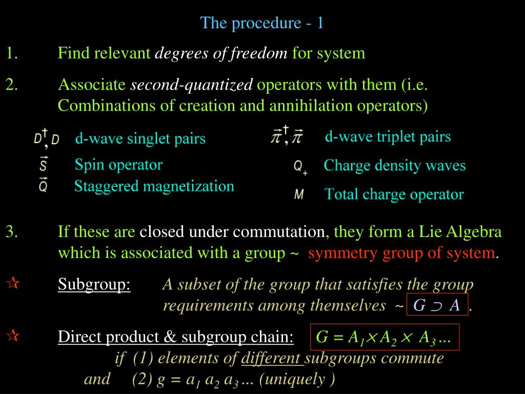 The procedure - 1