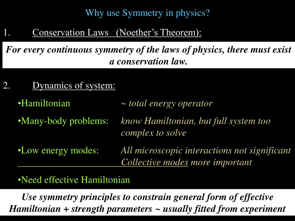 Why use Symmetry in physics?