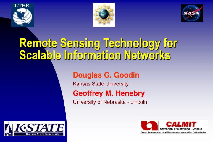 Remote sensing technology for scalable information networks l.jpg