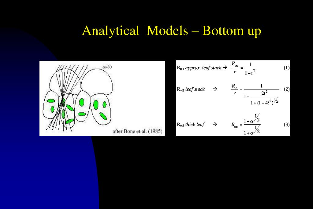 Analytical  Models – Bottom up