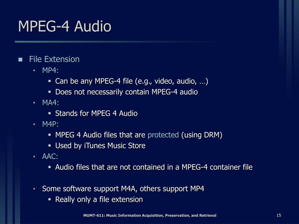MPEG-4 Audio