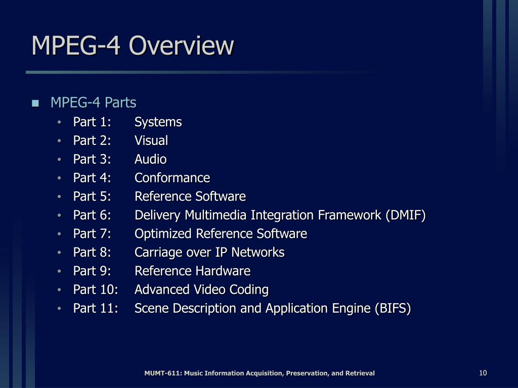 MPEG-4 Overview