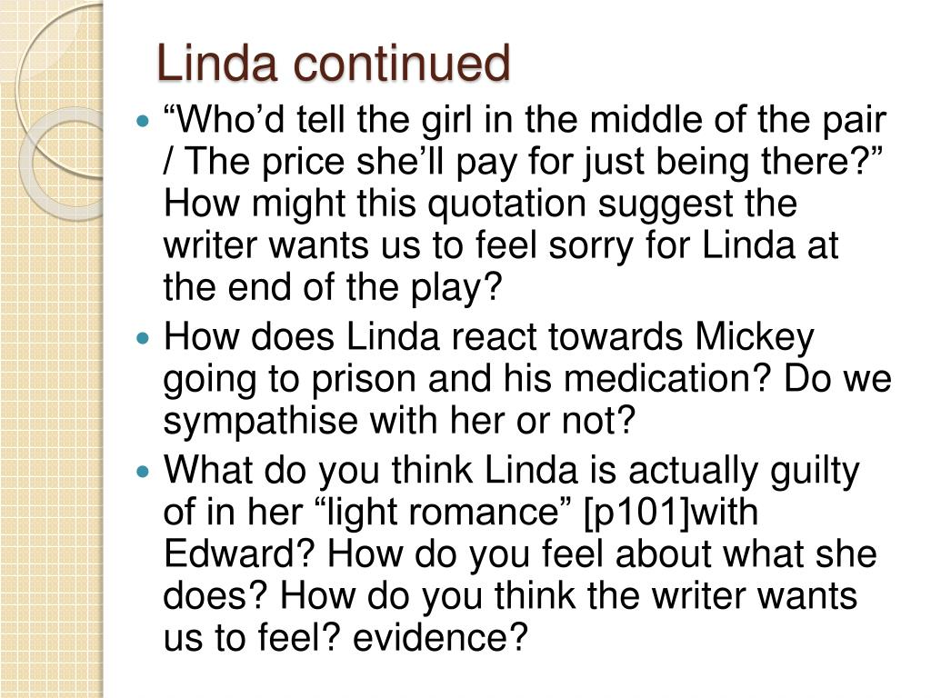 Linda continued