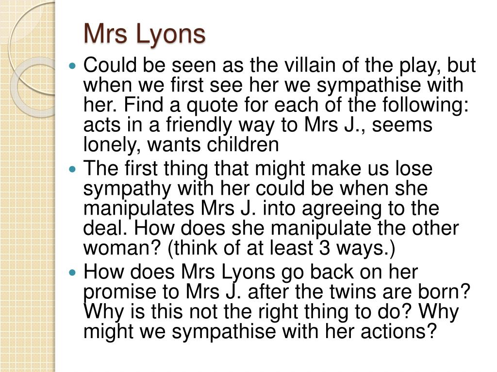 Mrs Lyons