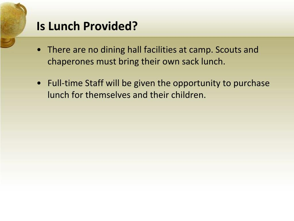 Is Lunch Provided?