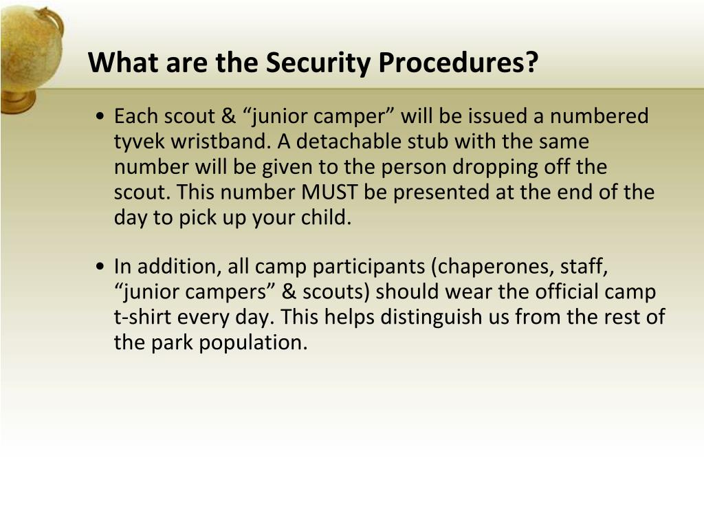 What are the Security Procedures?