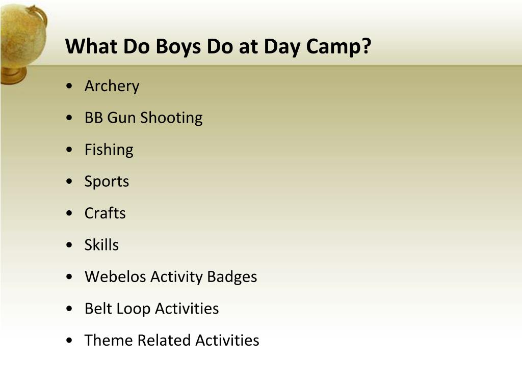 What Do Boys Do at Day Camp?