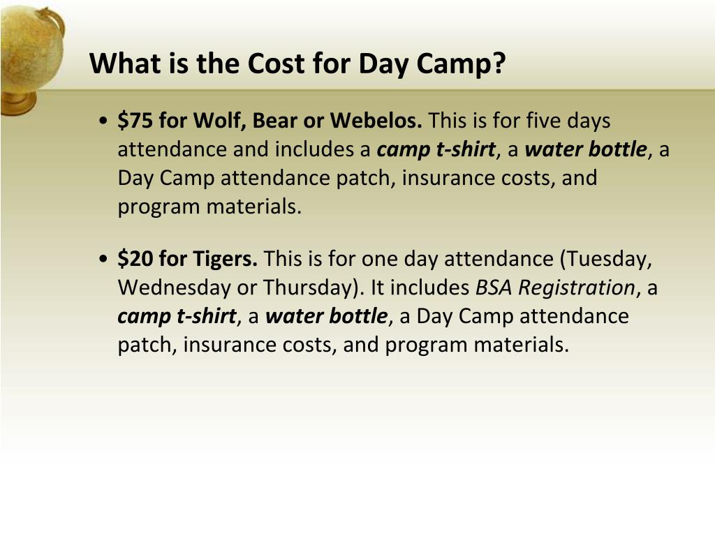What is the Cost for Day Camp?