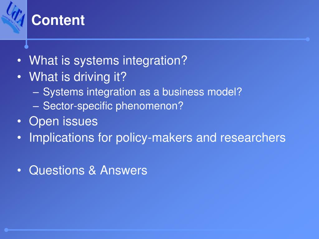 What is systems integration?