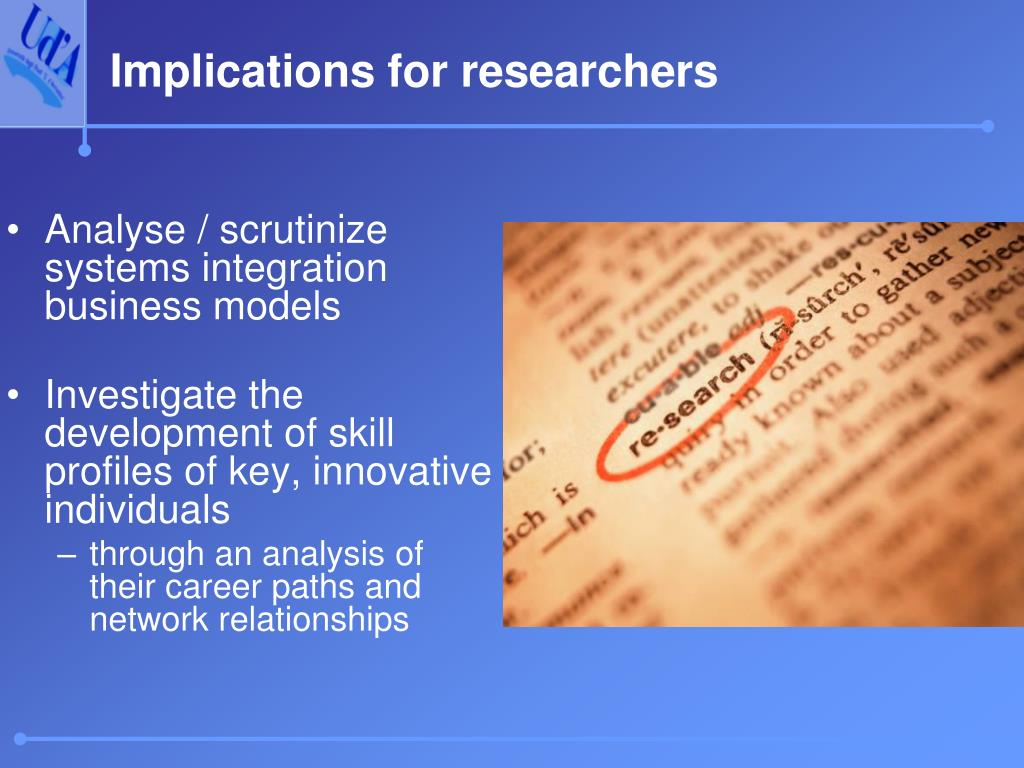 Implications for researchers