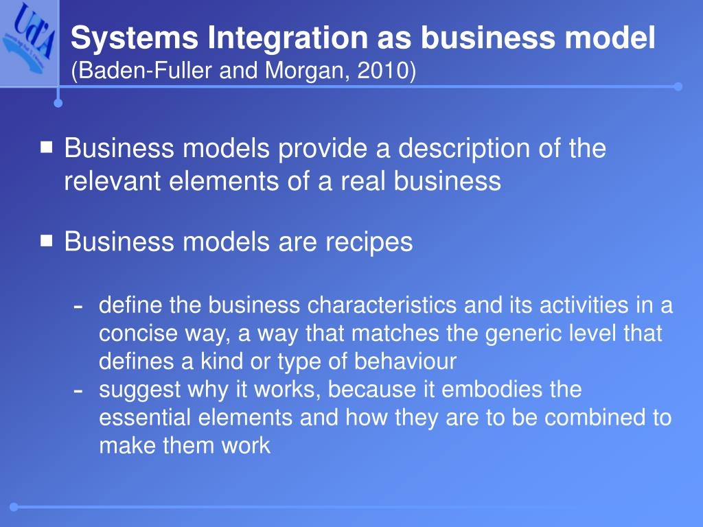 Systems Integration as business model