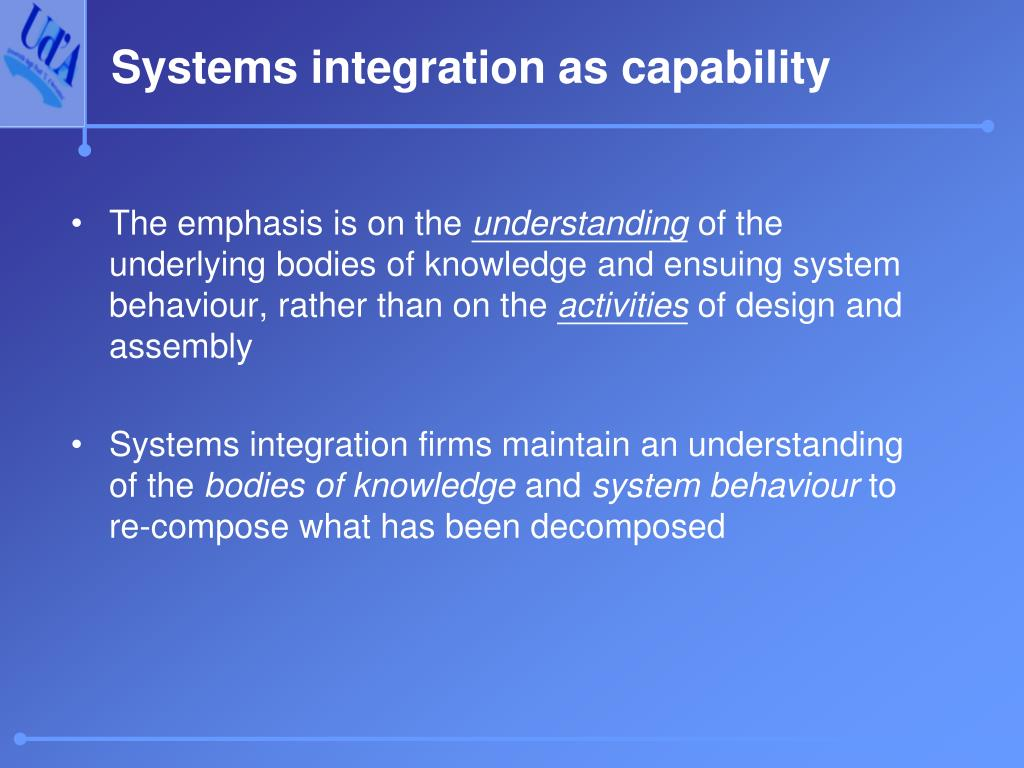 Systems integration as capability