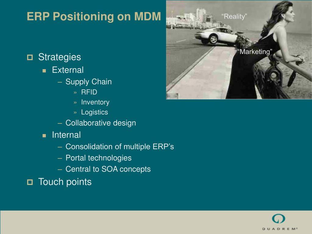 ERP Positioning on MDM