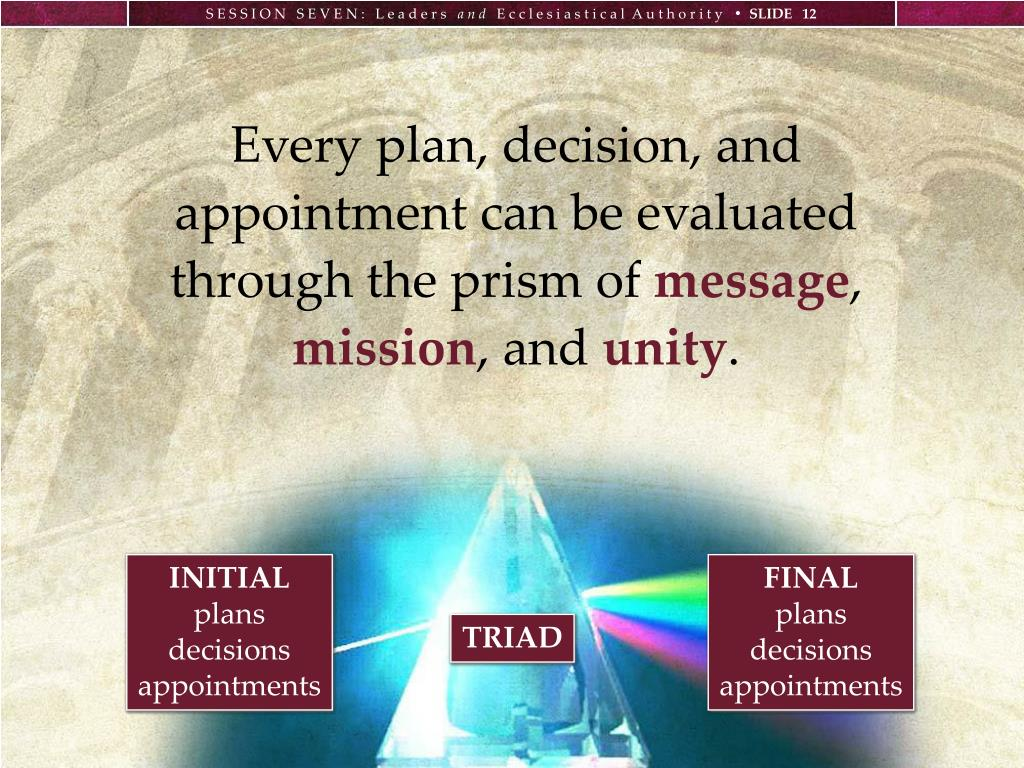 Every plan, decision, and appointment can be evaluated