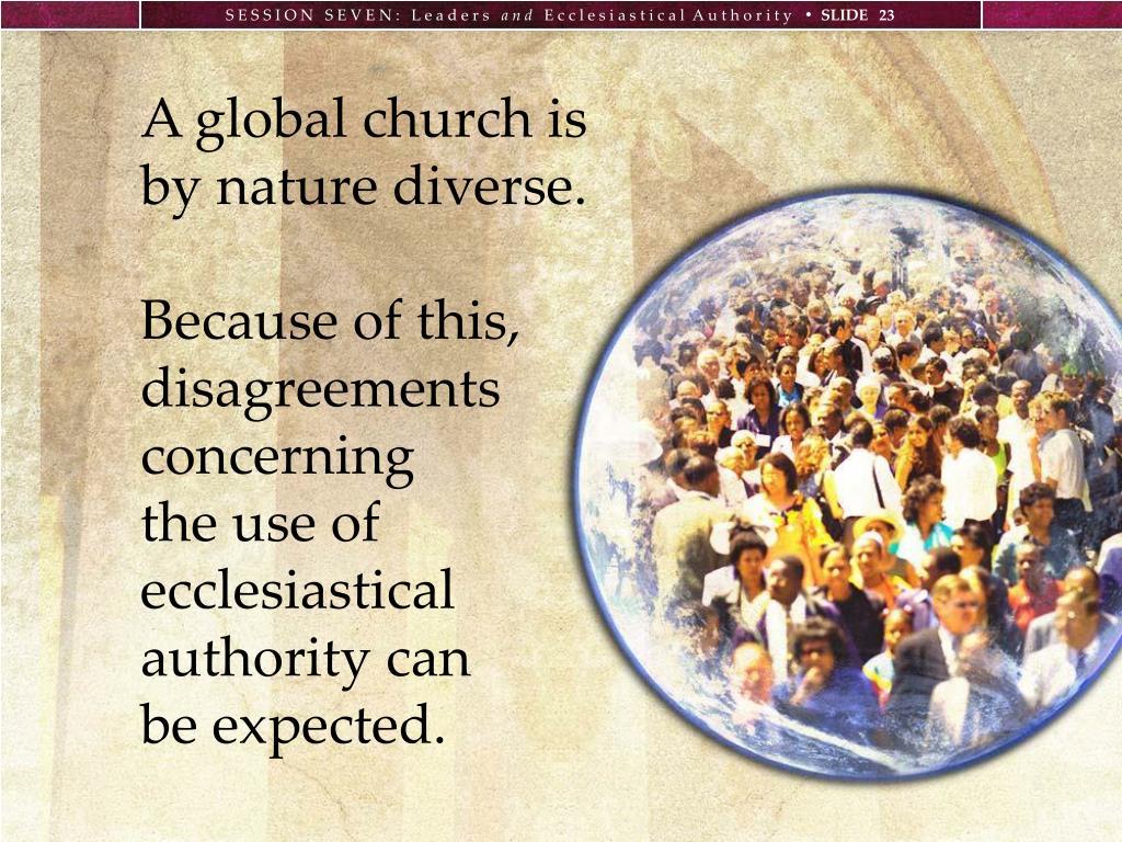 A global church is