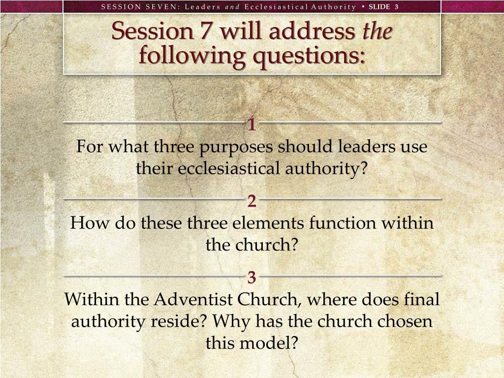 Session 7 will address