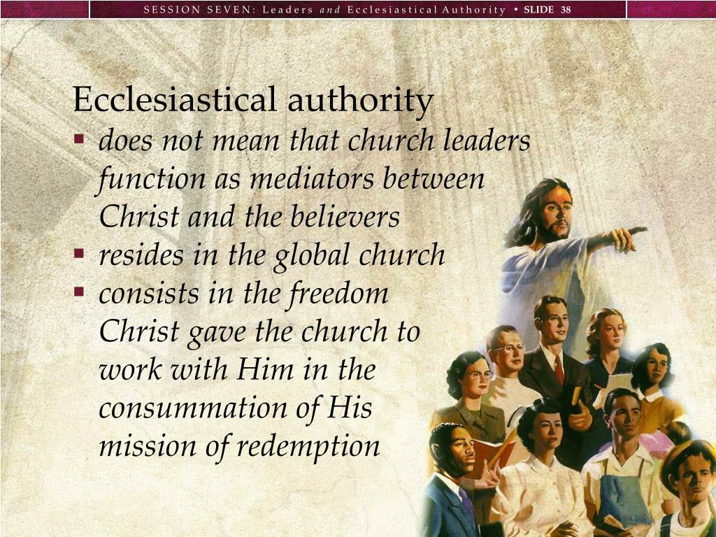 Ecclesiastical authority