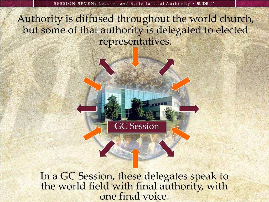 Authority is diffused throughout the world church,