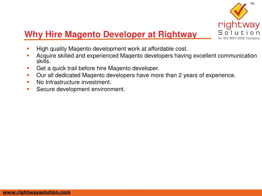 Why Hire Magento Developer at Rightway