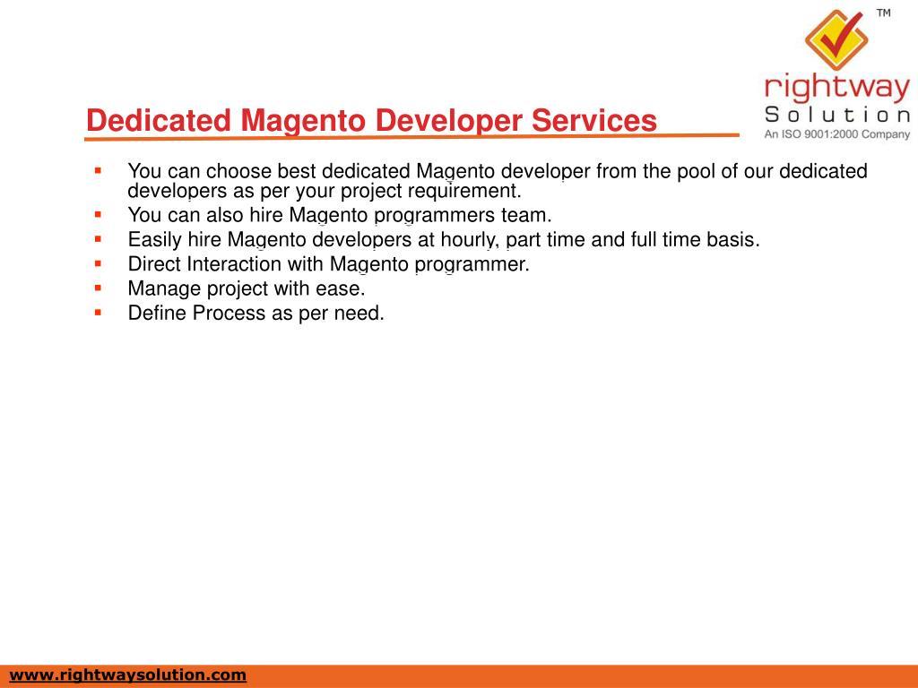 Dedicated Magento Developer Services