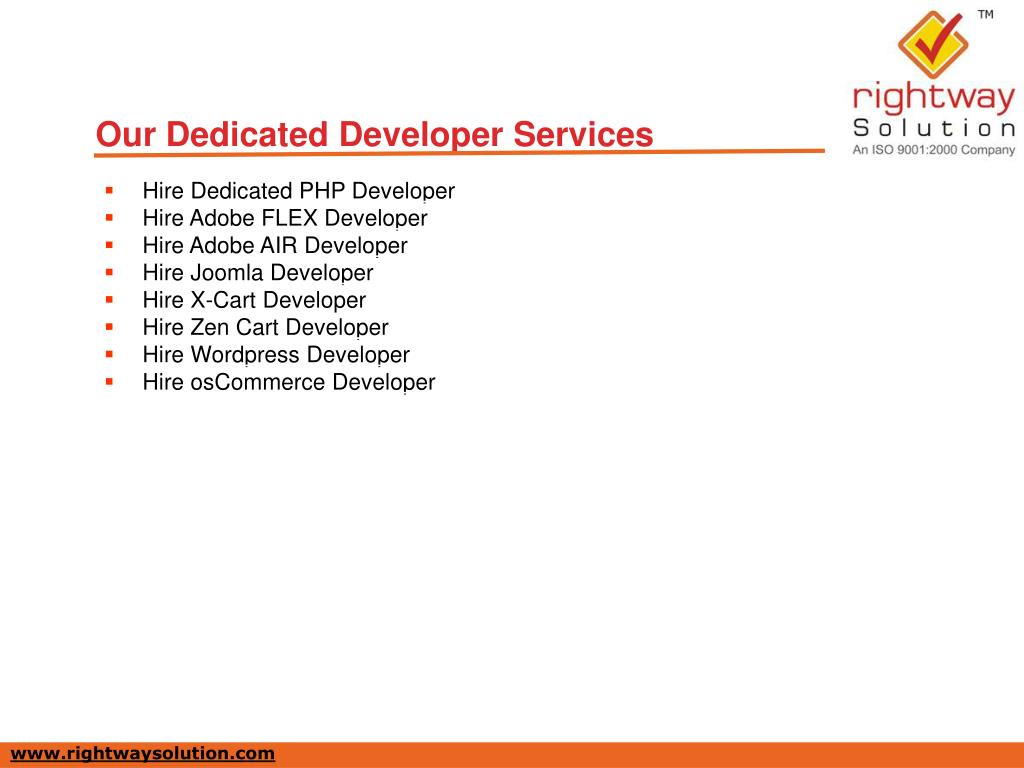 Our Dedicated Developer Services