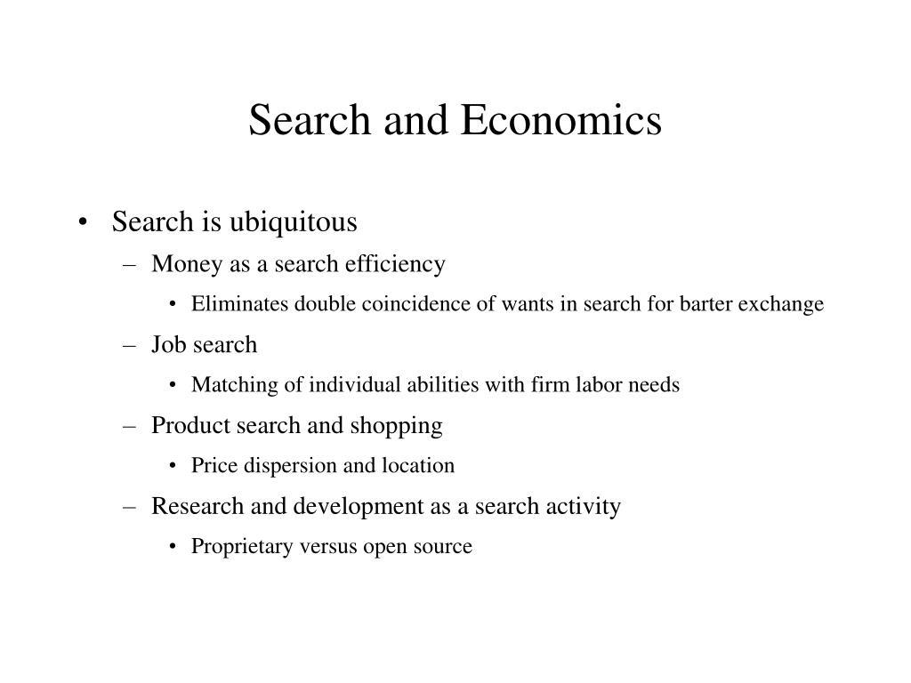 Search and Economics
