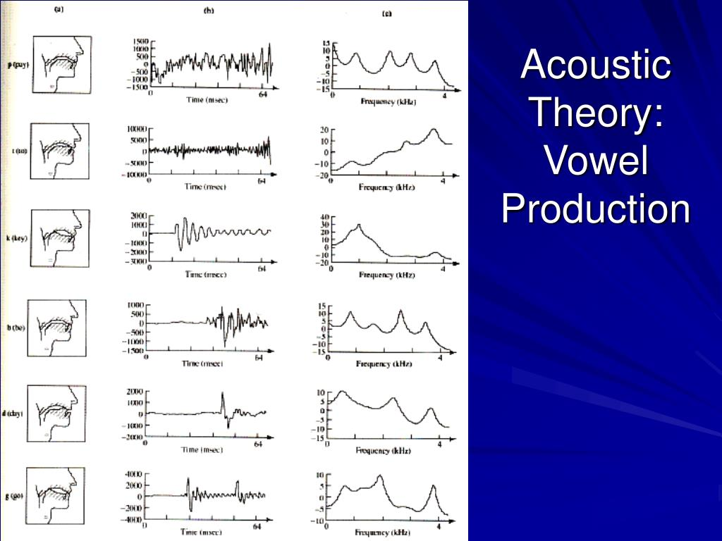 Acoustic Theory: Vowel Production