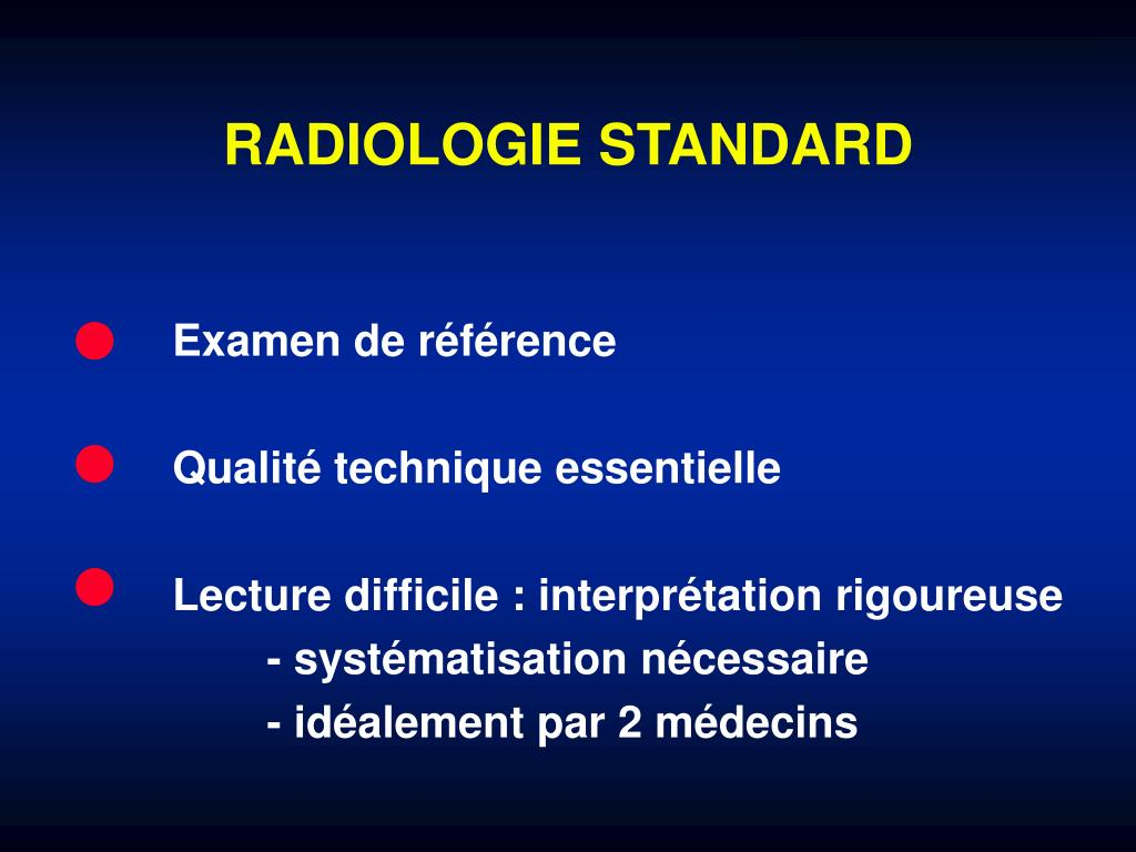 RADIOLOGIE STANDARD