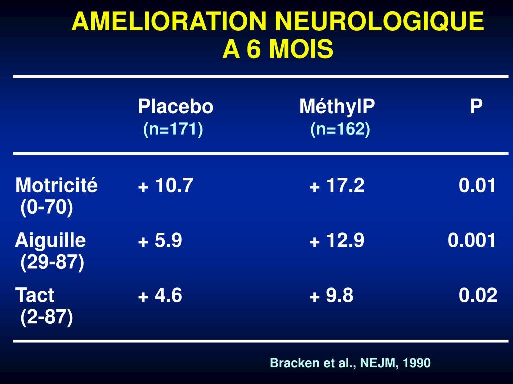 AMELIORATION NEUROLOGIQUE A 6 MOIS