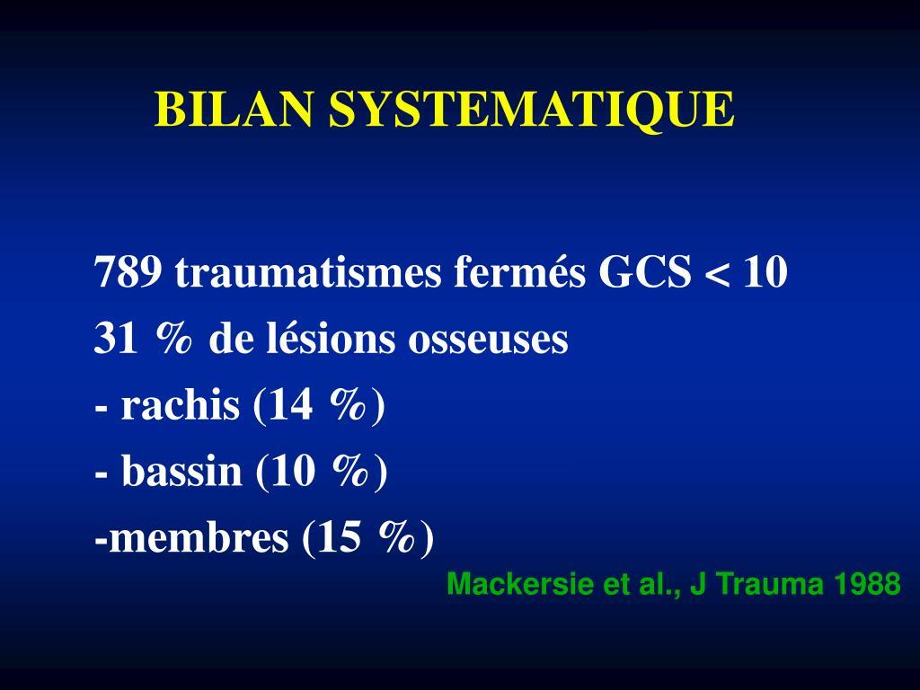 BILAN SYSTEMATIQUE