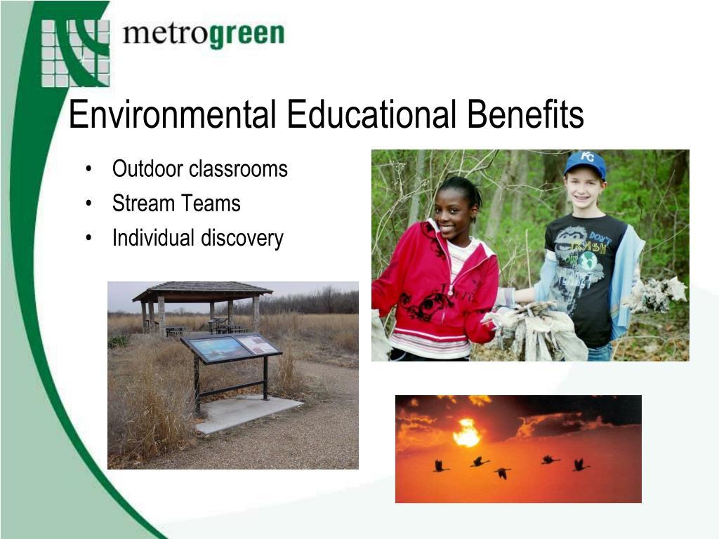 Environmental Educational Benefits
