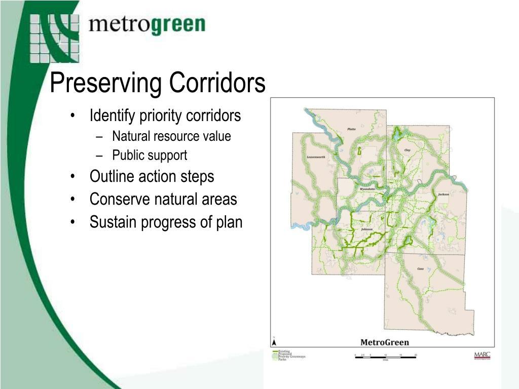 Identify priority corridors