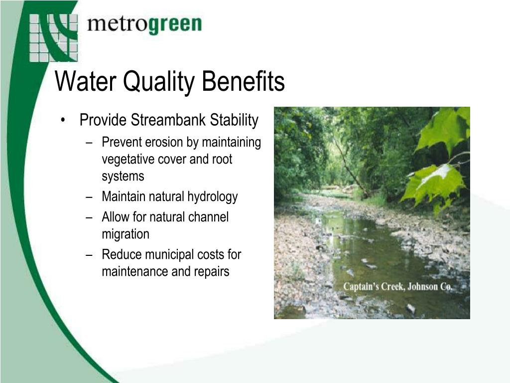 Water Quality Benefits