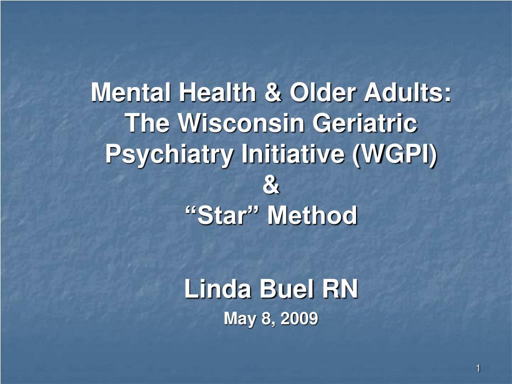 Mental Health & Older Adults: