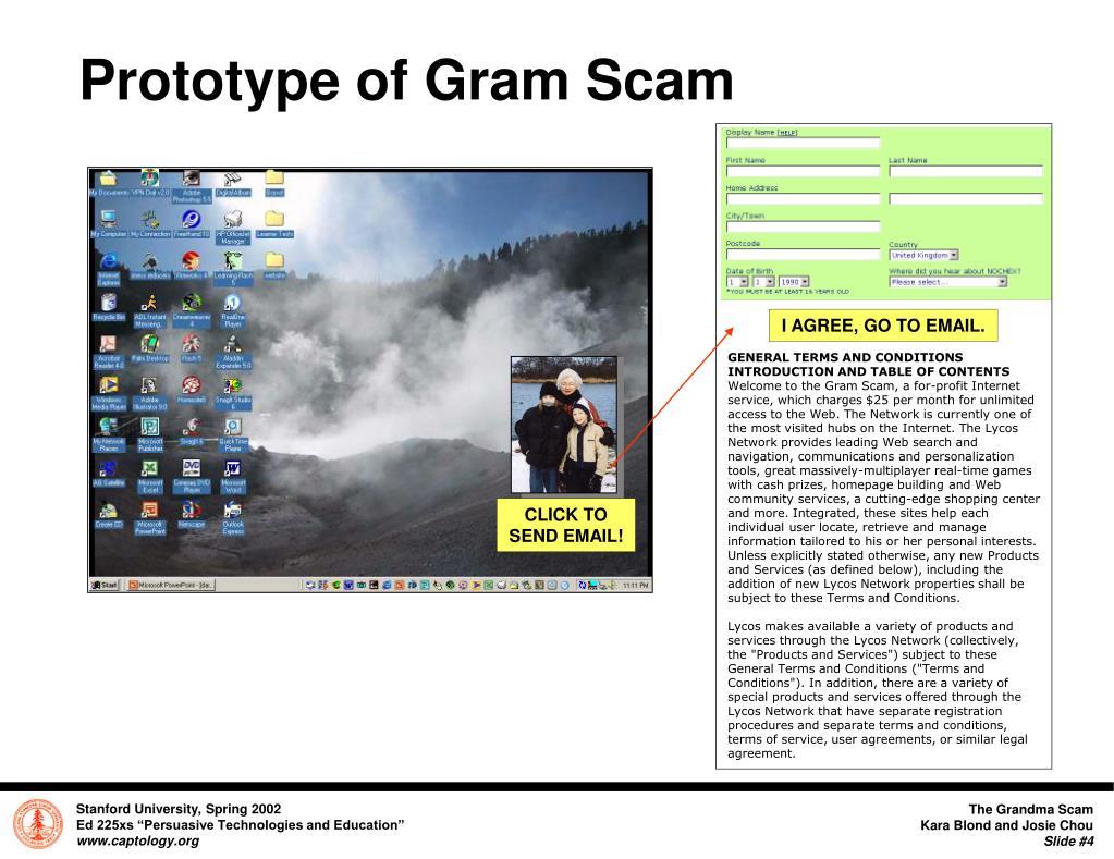 Prototype of Gram Scam