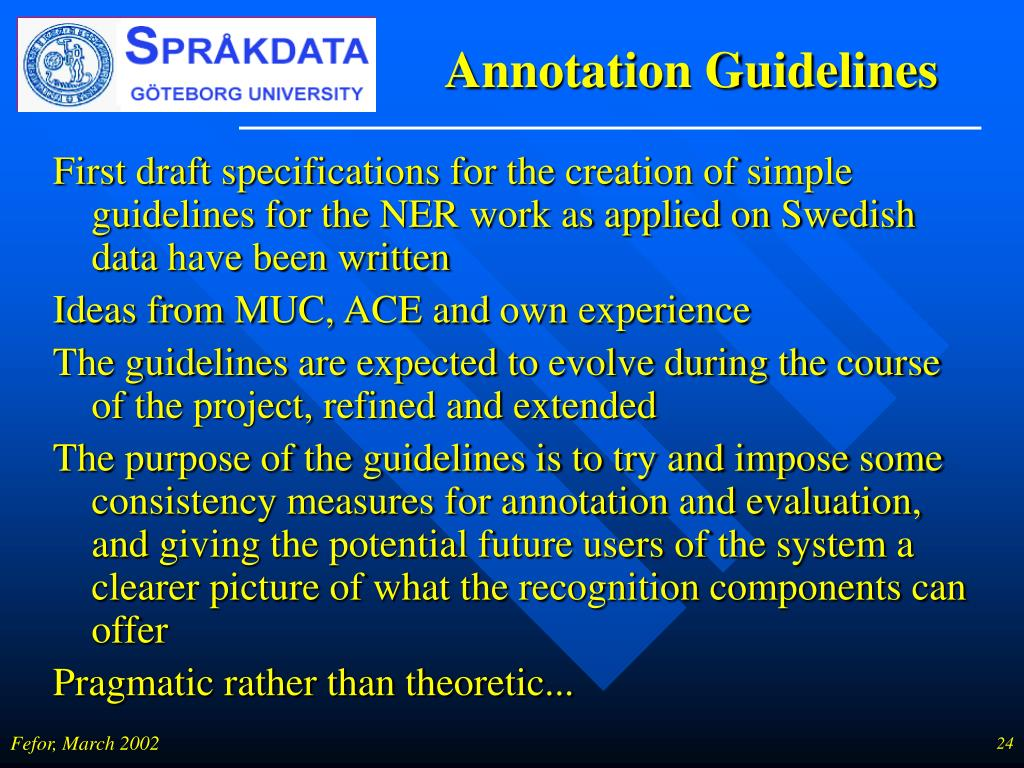 Annotation Guidelines