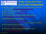 entity extraction tools non profit organizations